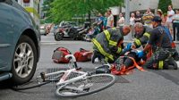 Accidente en bicicleta